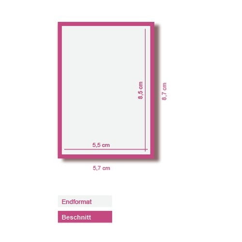 250 Visitenkarten 300g Bilderdruck Matt 4 4 Farbig