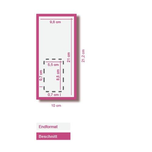 10000 Flyer Din Lang 300g Matt Mit Heraustrennbarer Visitenkarte